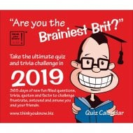 Are You The Brainiest Brit Boxed Calendar 2019