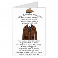 Auld Man Poem Scottish Birthday Card