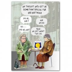 Auld Women Chatting Birthday Card