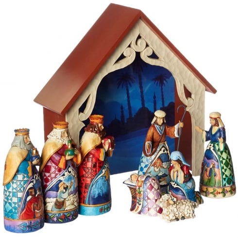 Jim Shore Heartwood Creek Away in a Manger Mini Nativity 9 Piece Set