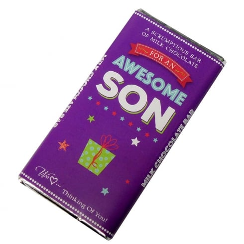 Words & Wishes Awesome Son Milk Chocolate Bar