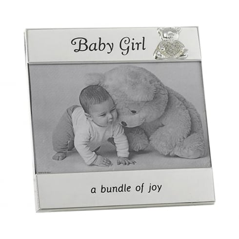 Shudehill Giftware Baby Girl 6 x 4 Silver Photo Frame
