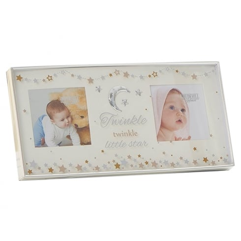 Shudehill Giftware Baby Star Twinkle Double Photo Frame
