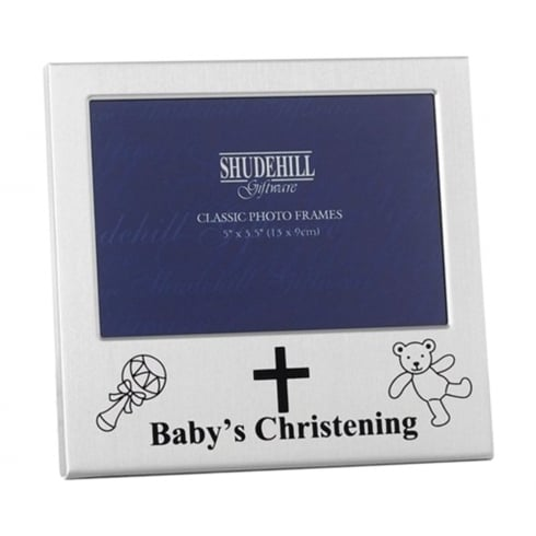 Shudehill Giftware Babys Christening 5 x 3.5 Photo Frame