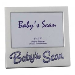 Babys Scan Purple Text 5 x 3.5 Photo Frame