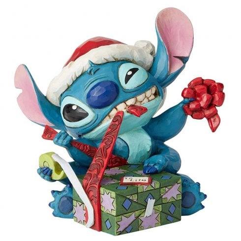 Disney Traditions Bad Wrap Stitch Figurine