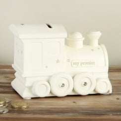 Bambino Resin Money Bank Train