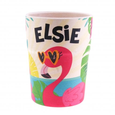 History & Heraldry Bamboo Crew Beaker Flamingo Elsie