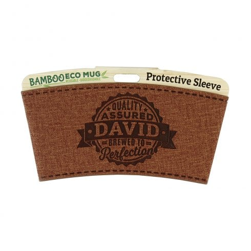 History & Heraldry Bamboo Eco Mug Name Wrap - David