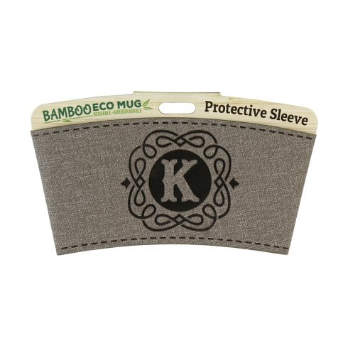 Bamboo Eco Mug Name Wrap - K