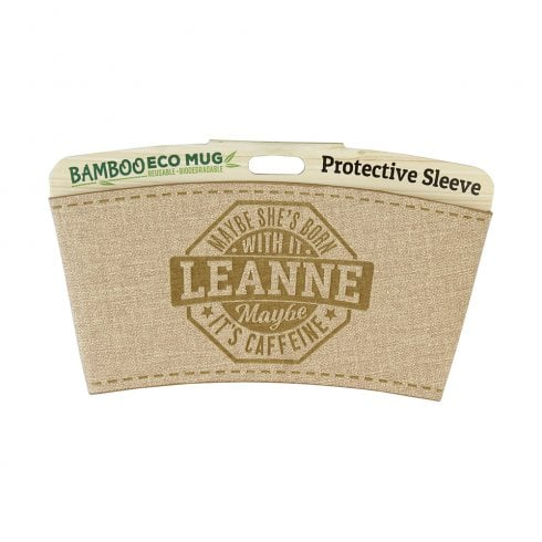 History & Heraldry Bamboo Eco Mug Name Wrap - Leanne