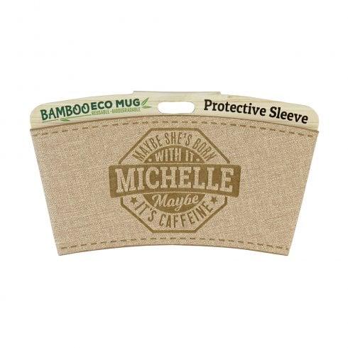 History & Heraldry Bamboo Eco Mug Name Wrap - Michelle