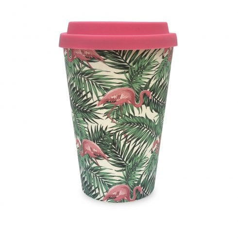 History & Heraldry Bamboo Eco Travel Mug - Flamingo