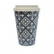 Bamboo Eco Travel Mug - Ornate Tile Pattern