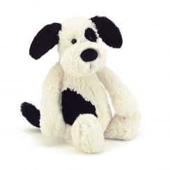Bashful Black & Cream Puppy Medium 31cm