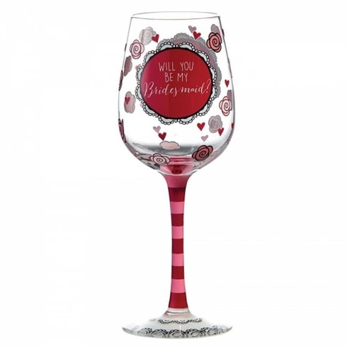 Our Name Is Mud Be My Bridesmaid Wine glass