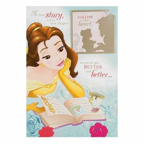 Hallmark Beauty and the Beast Keepsake Book Birthday Card 25482745