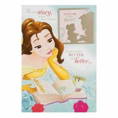 Beauty and the Beast Keepsake Book Birthday Card 25482745