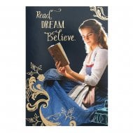 Beauty And The Beast Read. Dream. Believe. Blank Card 25482265