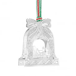 Bell With Santa On Sleigh Hanging Decoration