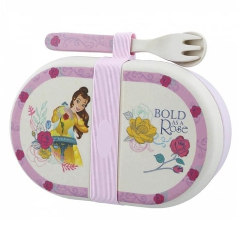 Disney Enchanting Collection Belle Organic Snack Box with Cutlery Set