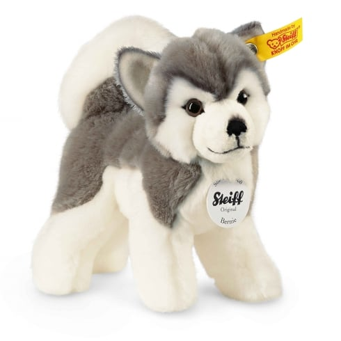 Steiff Bernie Grey & White Husky Dog