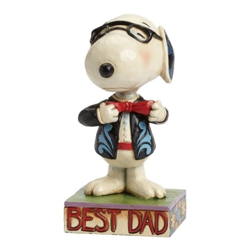 Jim Shore - Peanuts Best Dad Well Dressed Snoopy Figurine