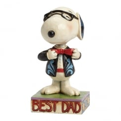 Best Dad Well Dressed Snoopy Figurine