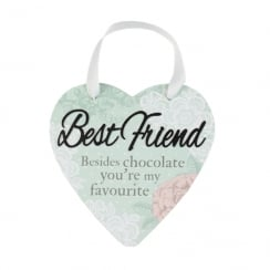 Best Friend Hanging Heart