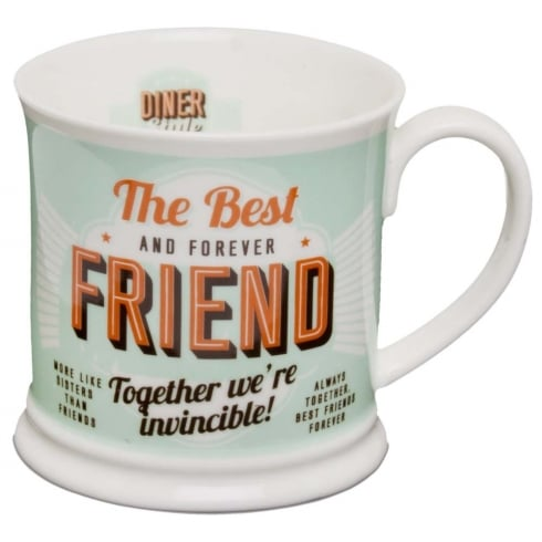Diner Style Mugs Best Friend
