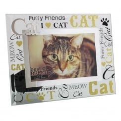 Best of Breed Cat 3D Words 6 x 4 Glass Photo Frame