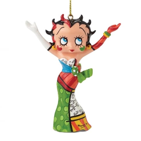Romero Britto Betty Boop Hanging Ornament