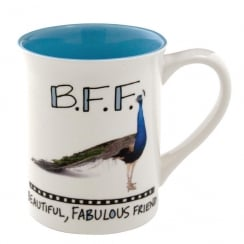 BFF Beautiful Fabulous Friend Peacock Mug