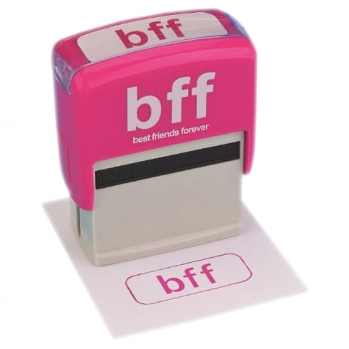 Boxer BFF - Best Friends Forever Text Speak Ink Stamp