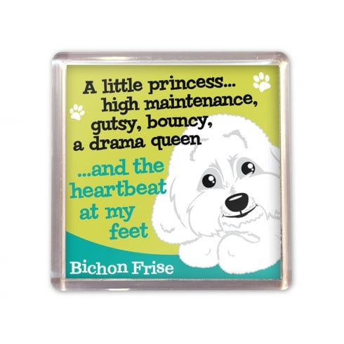 Wags & Whiskers Bichon Frise Magnet