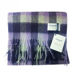 Big Check Purples Lambswool Tartan Scarf