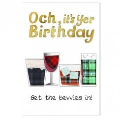 Birthday Get The Bevvies In Card