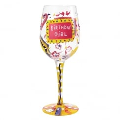 Birthday Girl Wine Glass