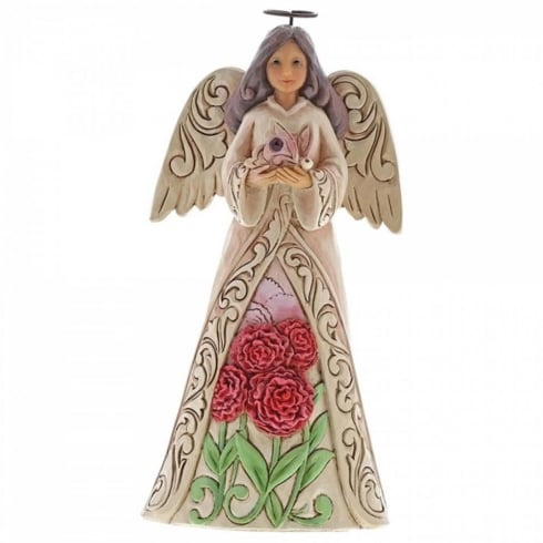 Jim Shore Heartwood Creek Birthstone Angel January