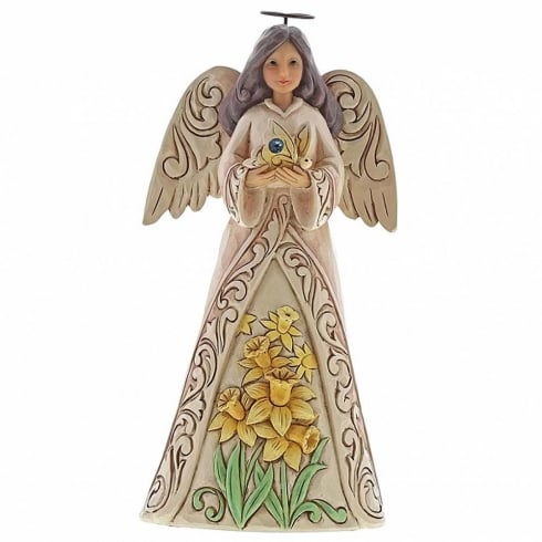 Jim Shore Heartwood Creek Birthstone Angel March
