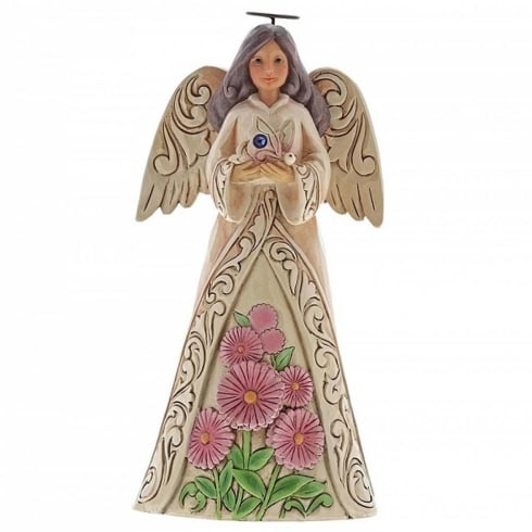 Jim Shore Heartwood Creek Birthstone Angel September