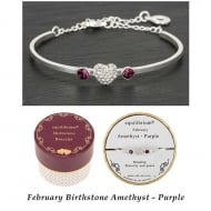 Birthstone Bracelet February