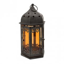 Black Arabian Style Lantern Candle Holder