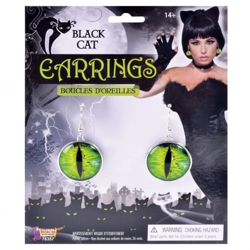 Bristol Novelty Black Cat Earrings