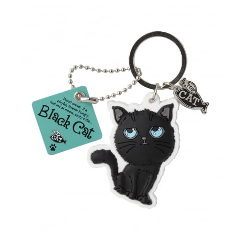 Wags & Whiskers Black Cat Keyring
