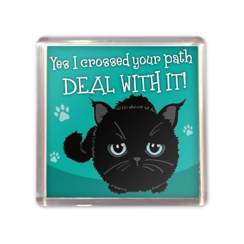 Wags & Whiskers Black Cat Magnet