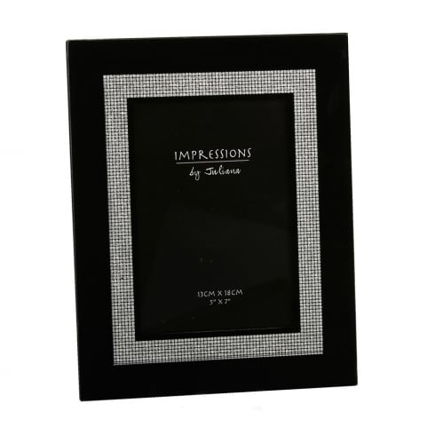 Impressions By Juliana Black Glitter 5 X 7 Photo Frame Fg34257
