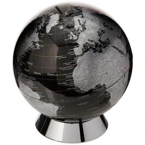 Globe Collection Black Globe Savings Money Bank 20cm