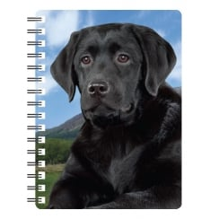 Black Labrador 3D Notebook