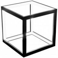 Black LED Box Table Lamp